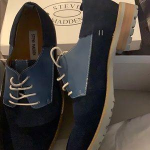 Steve Madden Men's Blue Suede 10.5 shoes